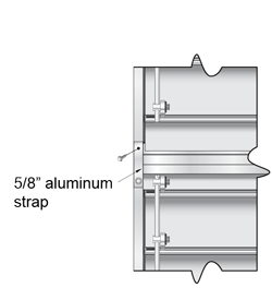 Two sections high backdraft damper