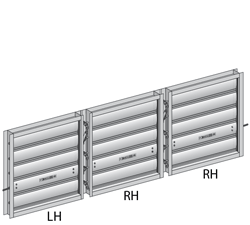 Three Sections Wide Multi-section dampers